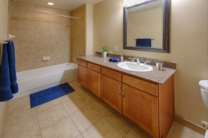 One Bedroom Apartments in Houston, Texas - Model Bathroom
